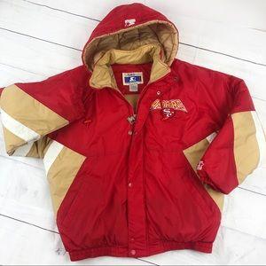Vintage 90s San Francisco 49ers Puffer Jacket NFL